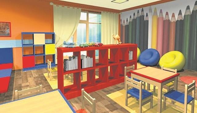 Pokój zabaw w stacjonarnym hospicjum dla dzieci w Gdyni