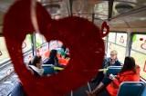 Walentynkowy tramwaj w Poznaniu. Serca, balony i uśmiechy [ZDJĘCIA]