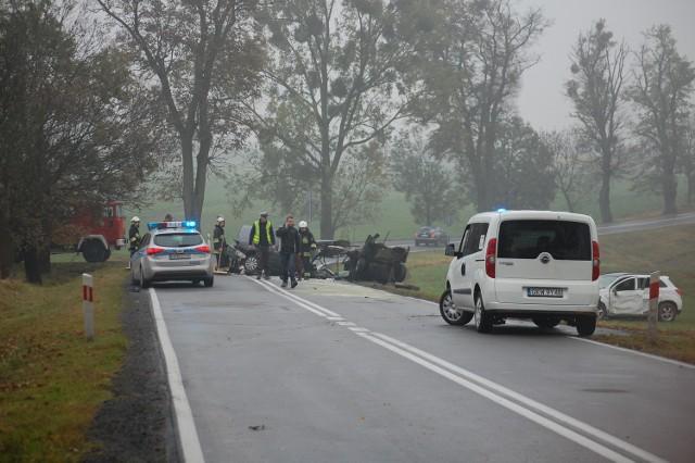 Śmiertelny wypadek w Bądkach (18.10.2015 r.)