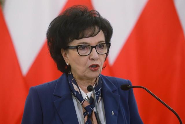Elżbieta Witek: Zostałam oszukana przez marszałka Senatu ws. ustawy o wyborach