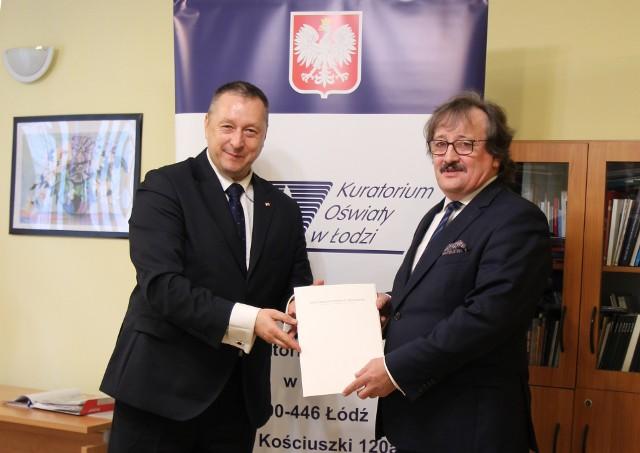 Kurator Waldemar Flajszer (z lewej) oraz wicekurator Andrzej Krych (z prawej)