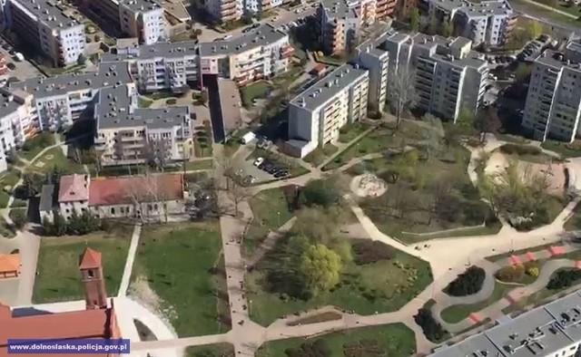 Tak wygląda Wrocław z pokładu policyjnego helikoptera