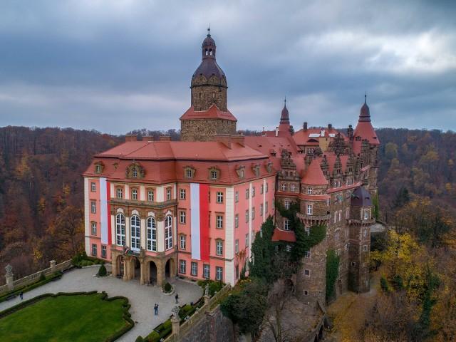 Zamek Książ - obchody 100-lecia odzyskania niepodległości
