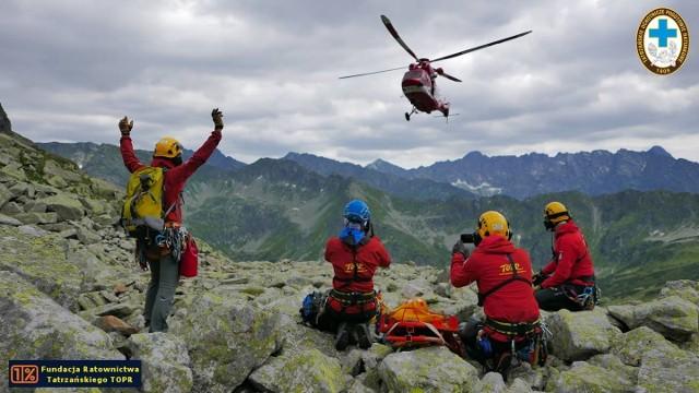 Ratownicy tatrzańscy w akcji - zdjęcie ilustracyjne