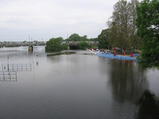 Widok z mostu w Kostrzynie nad Odrą