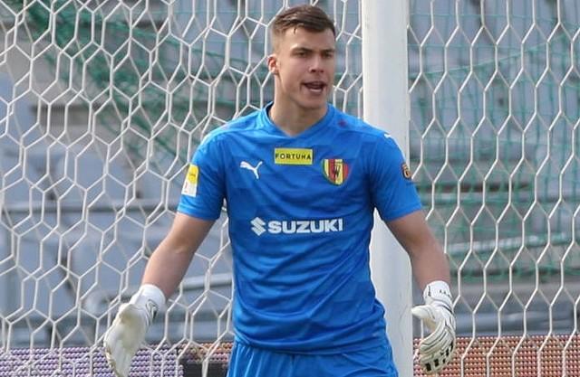 Marceli Zapytowski strzegł bramki Korony w meczu z ŁKS.