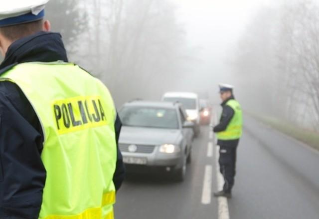Trudne warunki na drogach panują szczególnie na odcinku Krosno Odrzańskie - Świebodzin