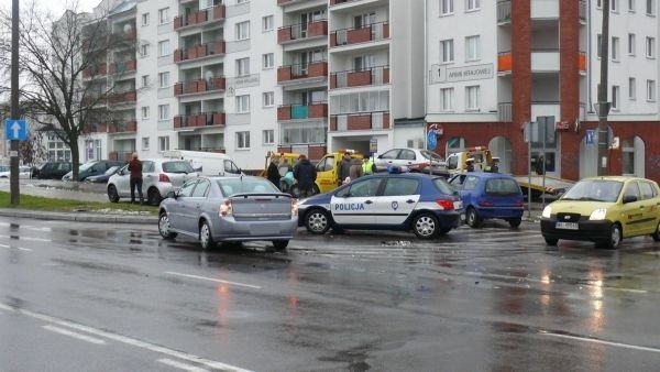 Do wypadku doszlo dziś przed godziną 9 na skrzyzowaniu ulic Upalnej i Sikorskiego w Bialymstoku