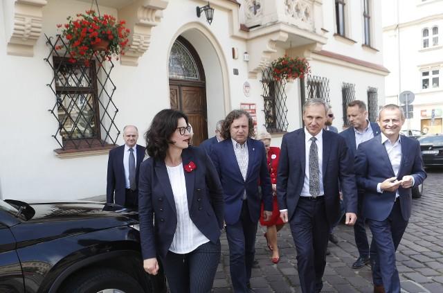 Prezydenci Dulkiewicz i Karnowski w Rzeszowie