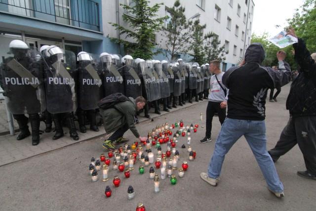 Śmierć Igora Stachowiaka wywołała falę zamieszek przed wrocławskim komisariatem