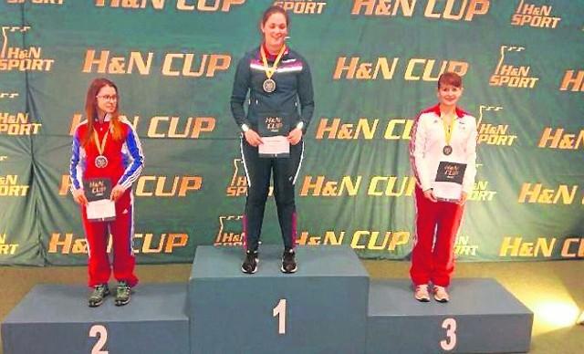 Agnieszka Nagay na trzecim miejscu podium