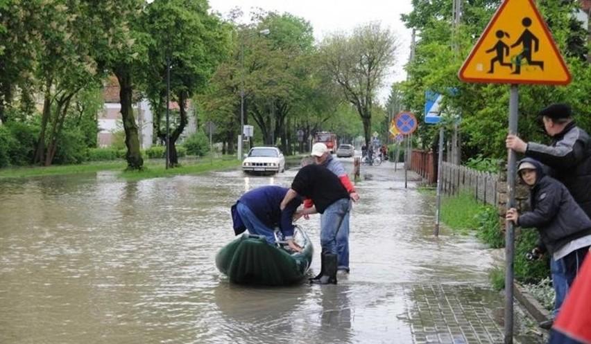 Powódź w Koźlu, 2010 rok.