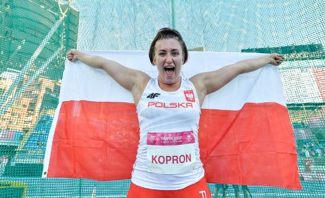 Malwina Kopron będzie w Neapolu bronić złotego medalu z poprzedniej uniwersjady w Tajpej