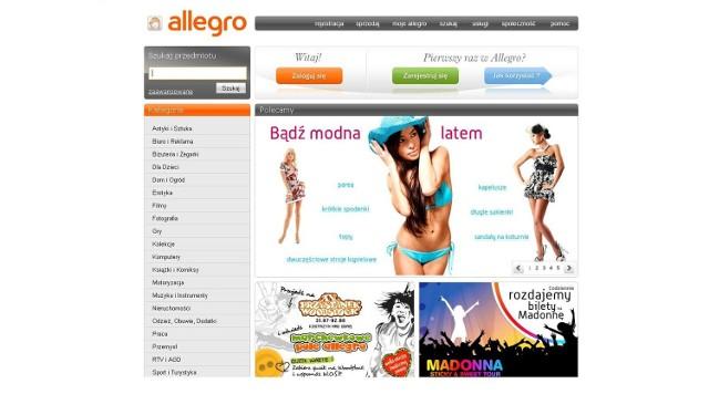 """Allegro wprowadziło konto """"Junior"""" dla użytkowników między 13. i 18. rokiem życia. (fot. allegro.pl)"""