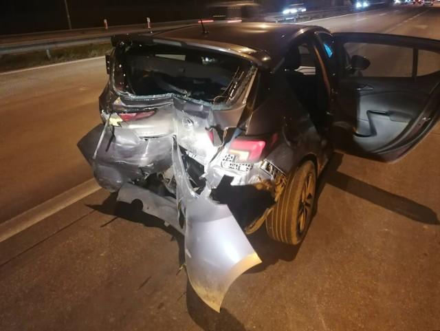 Wypadek na autostradzie A4 13.11.2020