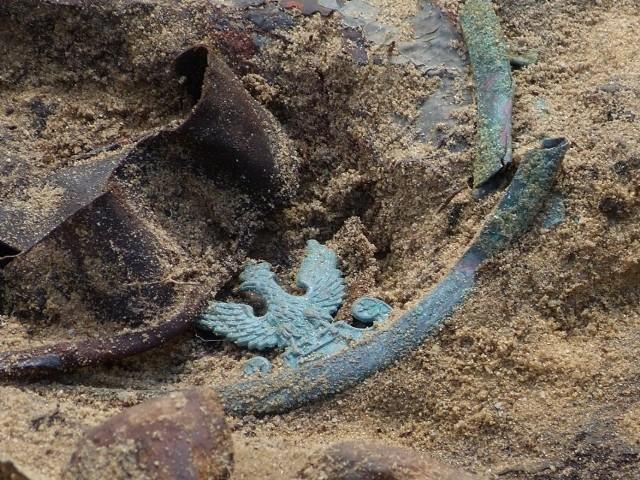 Orzełek znaleziony w mogile A. Palucha.