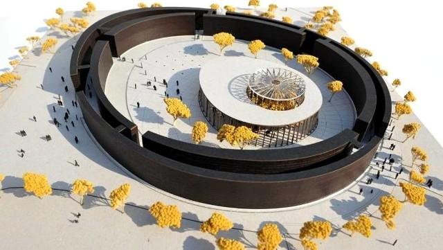 Tak wygląda nowy buski kompleks uzdrowiskowy - z tężnią solankową - na deskach projektantów (wizualizacja).