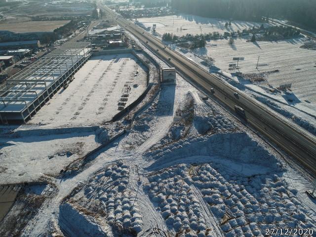 Plac budowy węzła Nowy Targ Południe
