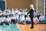 Sędzia Anna Maria Wesołowska odwiedziła gimnazjum w Wasilkowie