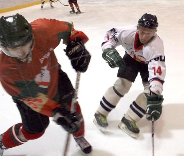 Hokej, I liga: Orlik Opole-Legia Warszawa.