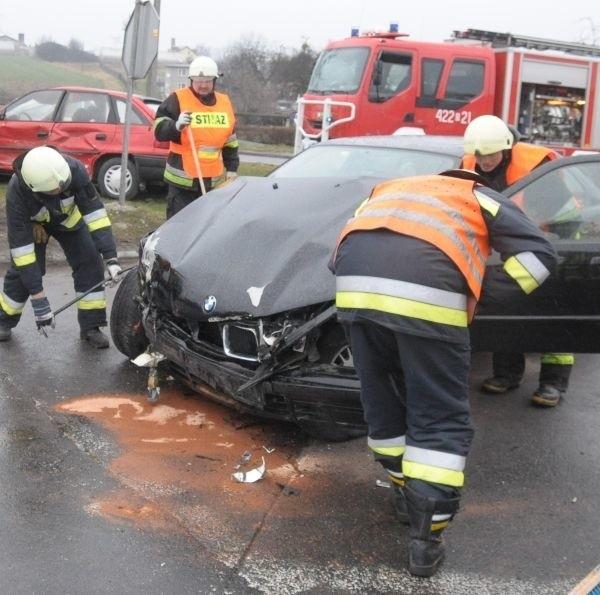 Dwa tygodnie temu w tym miejscu zderzyły się trzy samochody.