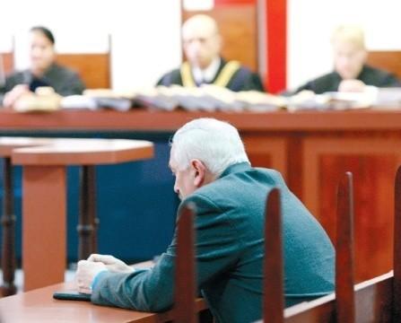 Ryszard A. wczoraj w sądzie.