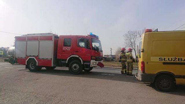 Wypadek na drodze krajowej nr 8 w Radzikowie na Dolnym Śląsku 26.02.2021