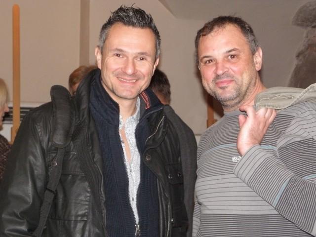 Od lewej Michel Erb, który prowadził seminarium aikido. Obok Maciej Gostomski