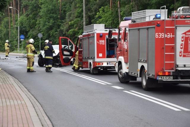 Do wypadku doszło na drodze krajowej nr 55 w miejscowości Klęczkowo (pow. chełmiński)