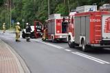 Zderzenie tira z busem w Klęczkowie na drodze krajowej nr 55. Jedna osoba w szpitalu