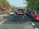 Wypadek na DK94 w Sosnowcu ZDJĘCIA Zderzyły się cztery samochody, trasa została zakorkowana