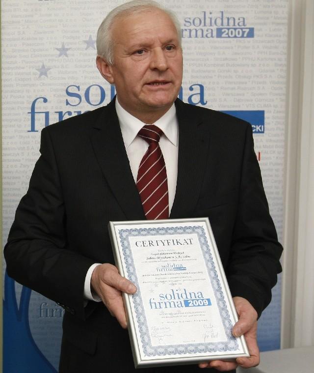 Józef Folcik, prezes Zespółu Elektrowni Wodnych Solina-Myczkowce w Solinie.