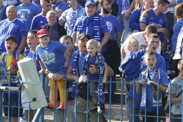 Mecze Ruchu Chorzów przy Cichej oglądają też najmłodsi kibice.