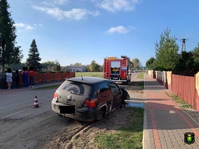 Wypadek w Guzowatce, 23.10.2019