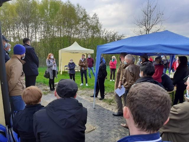 Stanowcze nie budowie spalarni odpadów medycznych w swojej okolicy mówią mieszkańcy gminy Ludwin