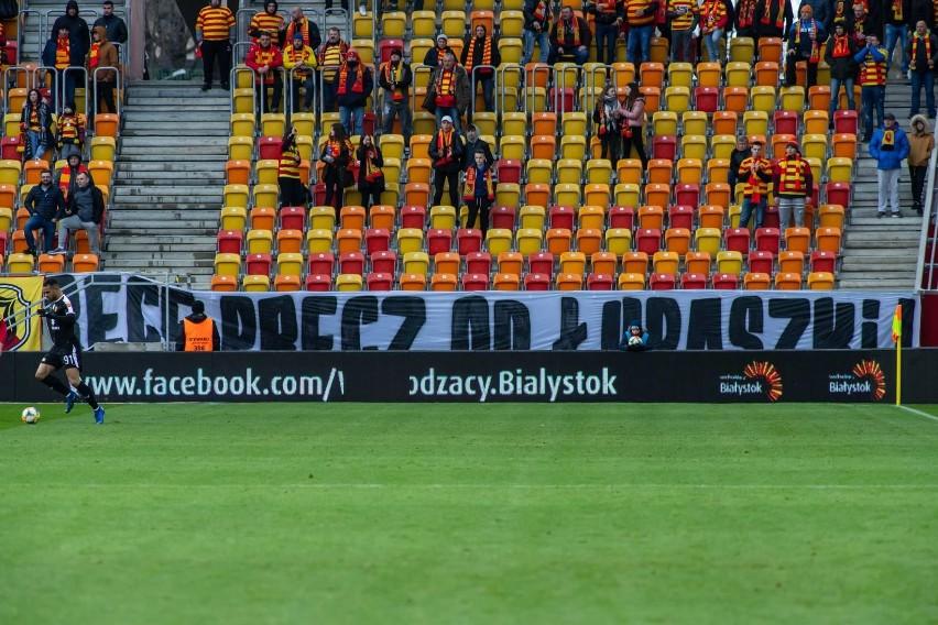 Taki transparent został wywieszony podczas sobotniego meczu...