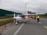 Awionetka wylądowała na autostradzie A1 pod Częstochową. To było lądowanie awaryjne