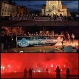 Nielegalne zgromadzenie kibiców Ruchu Chorzów w Rudzie Śląskiej. Około 60 kibiców Niebieskich odpaliło race. Interweniowała policja