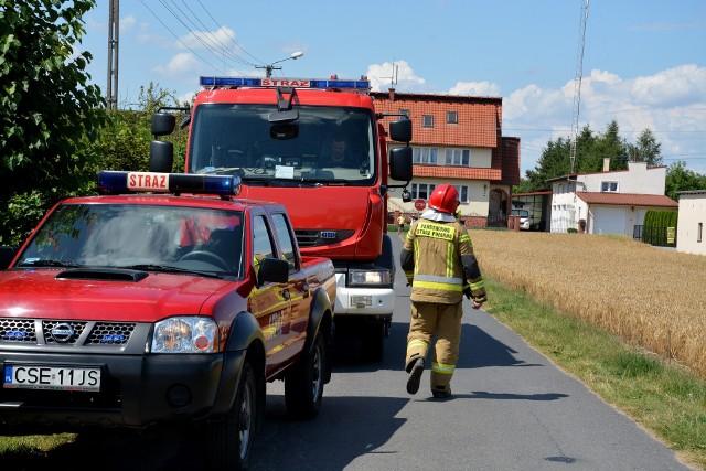 Strażacy gasili pożar domu w Sypniewie, którego źródłem było najprawdopodobniej zwarcie instalacji elektrycznej w pralce