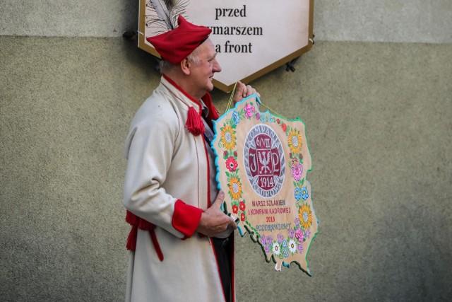 06.08.2019 Krakow. Oleandry,  marsz szlakiem 1 Kompanii Kadrowej