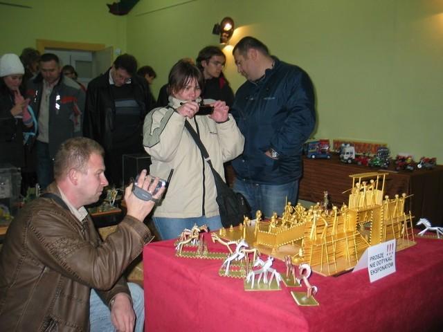 Na wystawie dużym zainteresowaniem cieszyła się oryginalna diorama bitwy pod Głogowem wykonana z... makaronu
