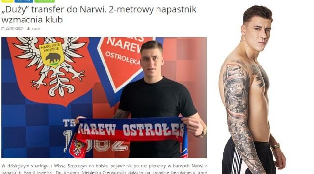 """Kamil Jagielski - jako piłkarz Narwi Ostrołęka i jako uczestnik """"Warsaw Shore"""""""