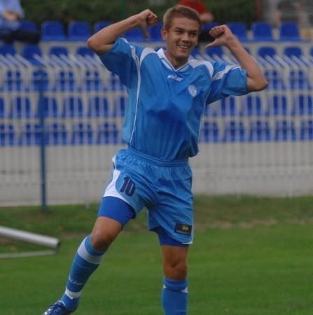 Radość Macieja Malinowskiego jest uzasadniona. 31-letni napastnik GKP przełamał w Lublinie trwającą cztery mecze strzelecką niemoc swego zespołu.