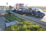 Wypadek cysterny i dwóch aut osobowych na wschodniej obwodnicy Wrocławia