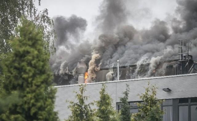 Wielki pożar na Dąbrowie. Płonie fabryka Coko Werk