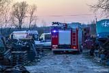 Nieszczęśliwy wypadek w Trześni. Kabina ciężarówki przygniotła mężczyznę. Zginął na miejscu