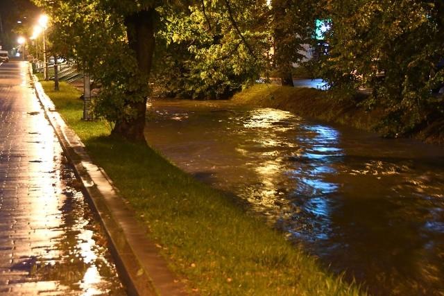 Niepokojąco wzrósł poziom rzeki Silnicy w Kielcach