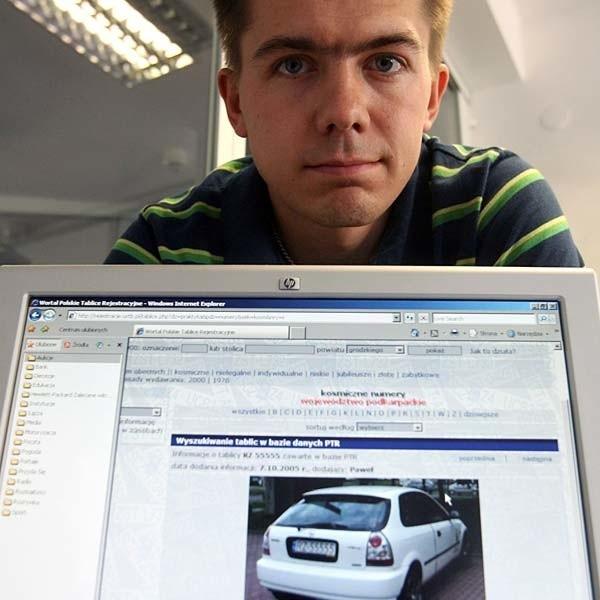 Bartosz Gubernat, dziennikarz Nowin: - Zażądałem od administratora strony wycofania zdjęcia mojego auta.