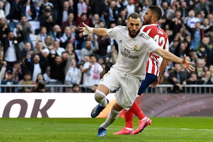 Real Madryt rządzi w stolicy. Atletico pokonane, przesądził gol Karima Benzemy.