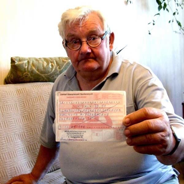 Stanisław Strzempa, były członek zarządu: - Zarządca oszukuje mieszkańców. My płacimy swoje rachunki.
